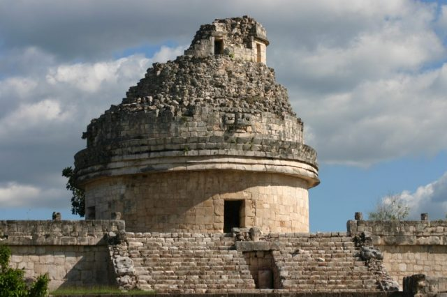 An image of the observational tower of El Caracol at Chichen Itza. Image Credit: Jumpstory.