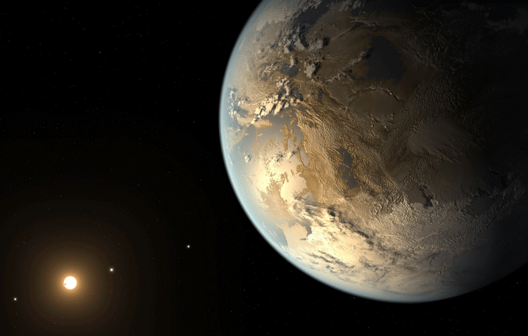 Exoplanet Kepler-186f as seen by the artist. Credit: NASA Ames / JPL-Caltech / T. Pyle