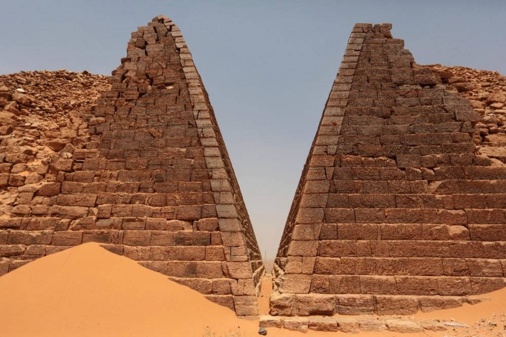 Like most ancient monuments, the Pyramids of Meroe were built with extreme precision. Credit: Mosa'ab Elshamy / AP