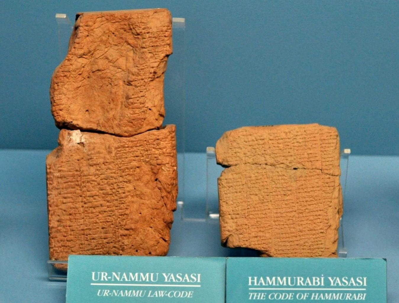 The Ur-Nammu law code and the Code of Hammurabi. Credit: TurkishArchaeoNews