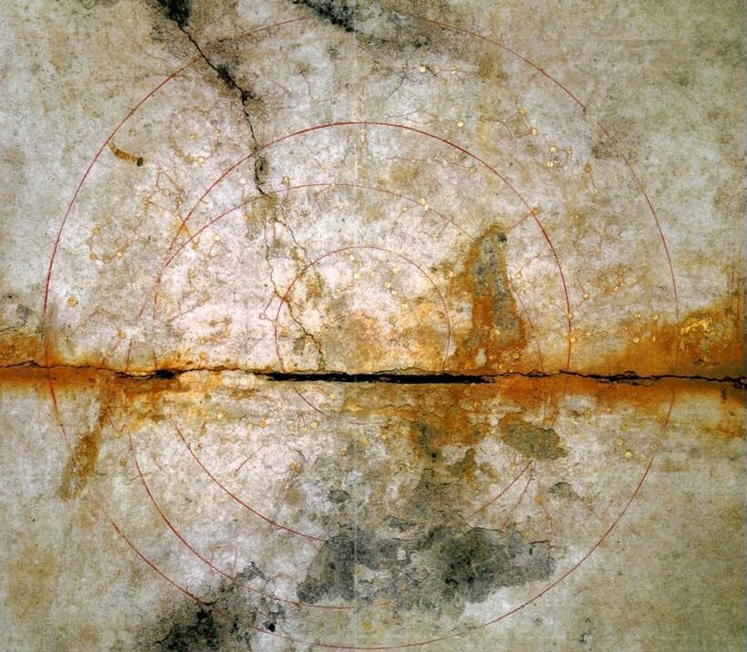 Here is the ancient star map discovered on the ceiling of the Japanese Kitora Tomb. Credit: Agency for Cultural Affairs
