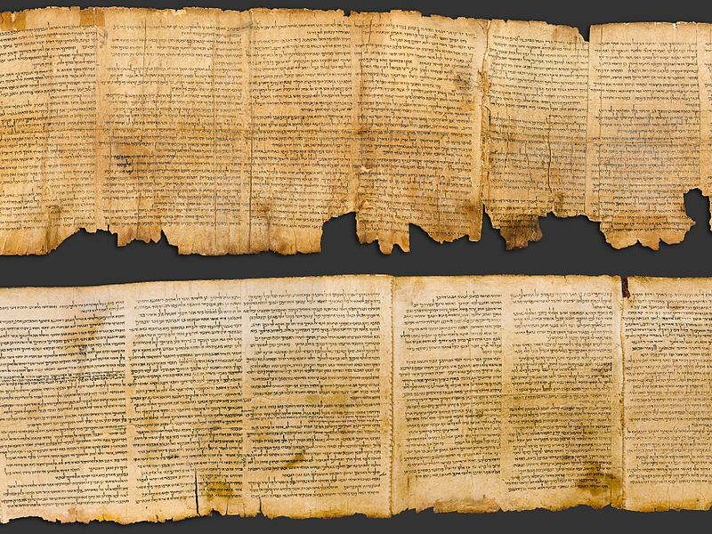 The longest and most preserved of the Dead Sea Scrolls - the Great Isaiah Scroll. Credit: Wikimedia Commons