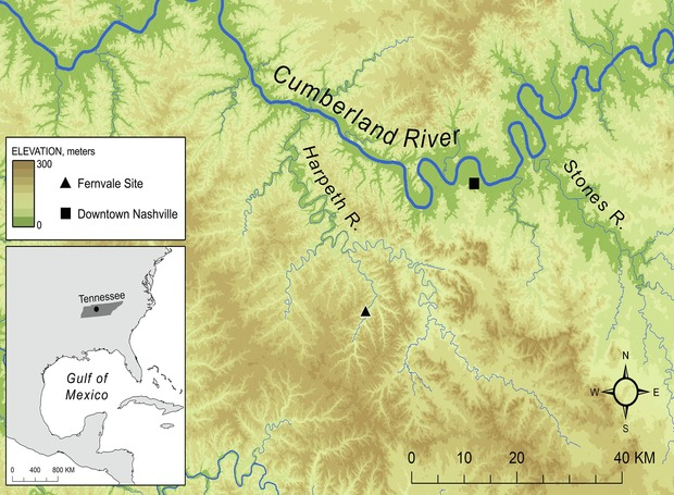 Local map. Credit: Aaron Deter-Wolf et al. / Journal of Archaeological Science: Reports, 2021