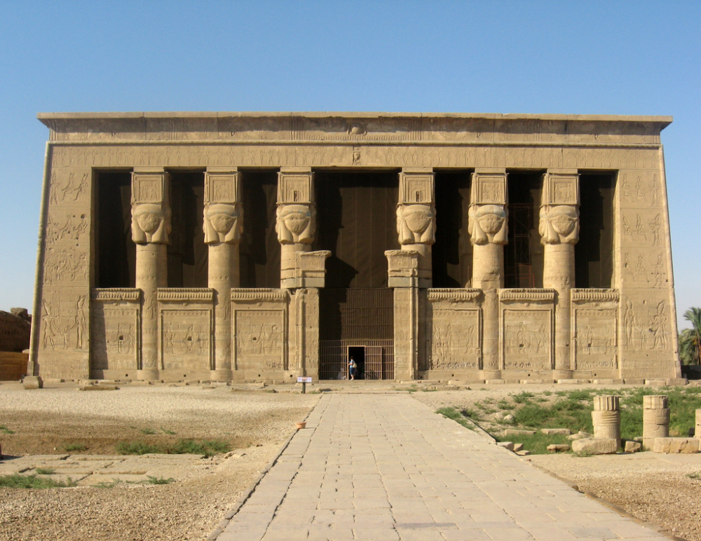 This marvelous ancient Egyptian megastructure is the Temple of Hathor. Credit: Wikimedia Commons