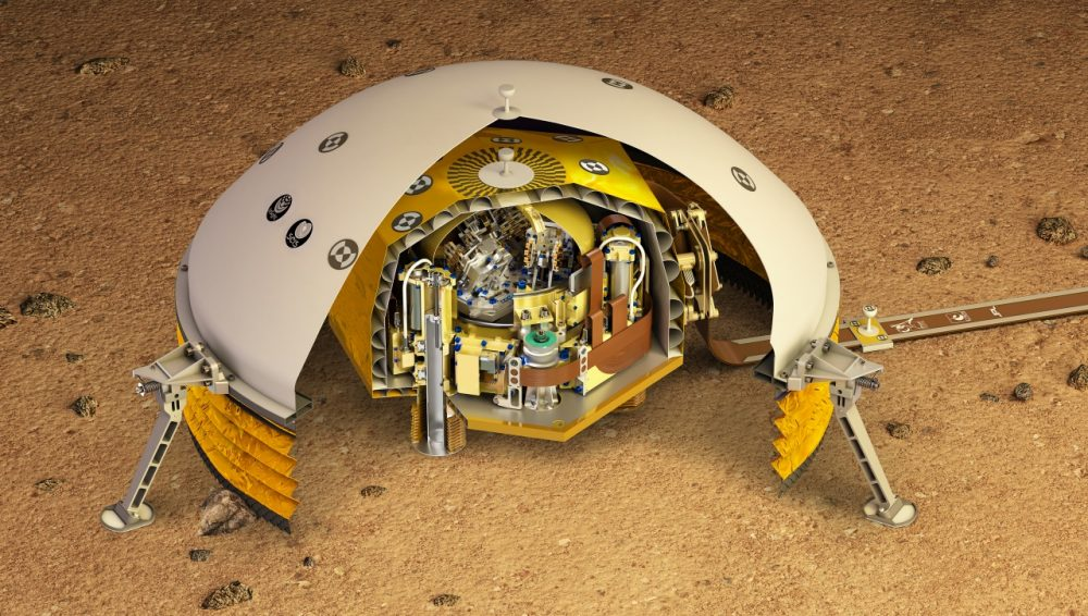 NASA's SEIS seismometer which has detected more than 500 marsquakes in two years. Credit: IPGP / David Ducros