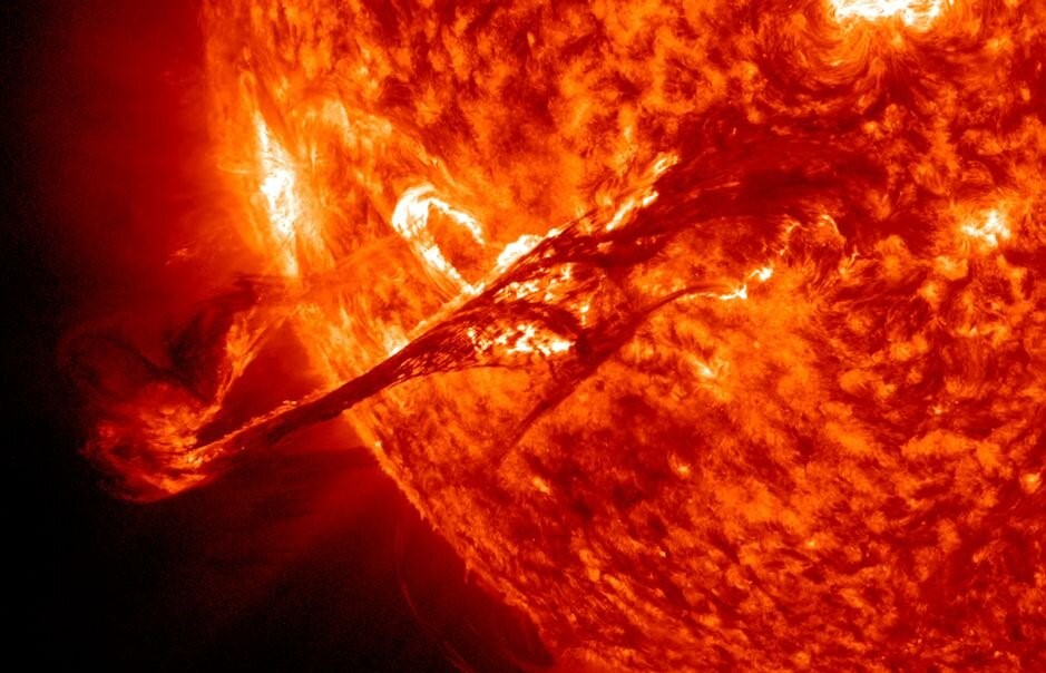 A C-class solar flare like the ones recorded during the peak of solar activity last week. Credit: NASA/SDO