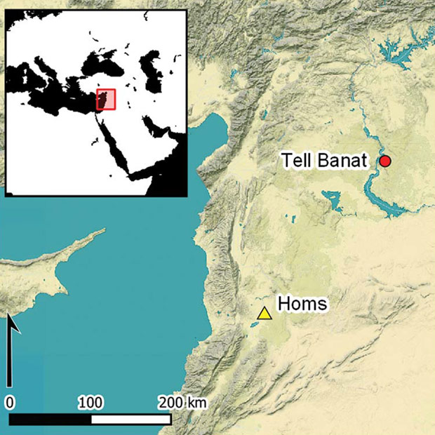 Location of the oldest war memorial in the world. Credit: Porter et al. / Antiquity, 2021