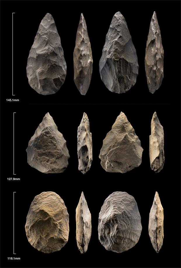 Acheulean tools found in An Nasim. Credit: Ian Cartwright / Nature Scientific Report, 2021