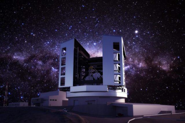 Artist's impression of the Giant Magellan Telescope when complete. Credit: Giant Magellan Telescope – GMTO Corporation