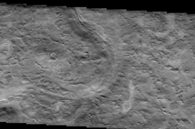 Relief features in the Arcadia Planitia on Mars suggest that there could be subsurface glaciers on the Red Planet. Credit: NASA / JPL / Arizona State University
