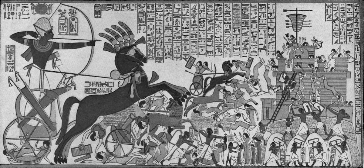 A depiction of Ramesses II's victory over the Cheta people and the Siege of Dapur. Image Credit: Wikimedia Commons.