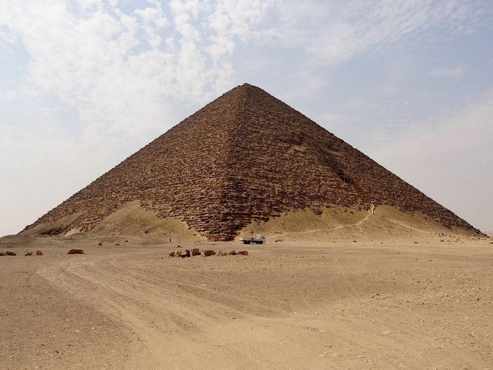 The Red Pyramid of Sneferu. Credit: Wikimedia Commons