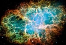The Crab Nebula turned out to be the source of the highest energy photon ever observed, known as a pevatron. Credit: NASA, ESA, J. Hester and A. Loll (Arizona State University)