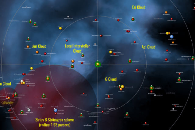 Part of the zoomable cosmic chart created by researchers. Credit: galaxymap.org
