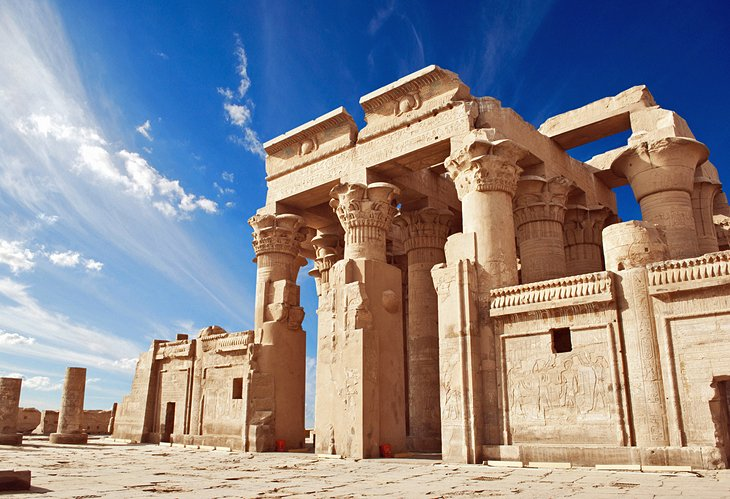 One of the most beautiful ancient Egyptian megastructures - the Great Temple of Kom Ombo. Credit: Planetware