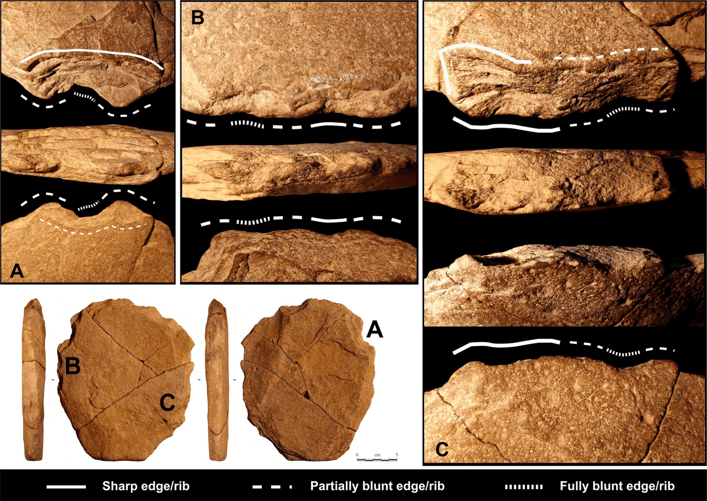 Results of macro-trace analysis of the stone artifact in Brazil. Credit: Eric Boëda