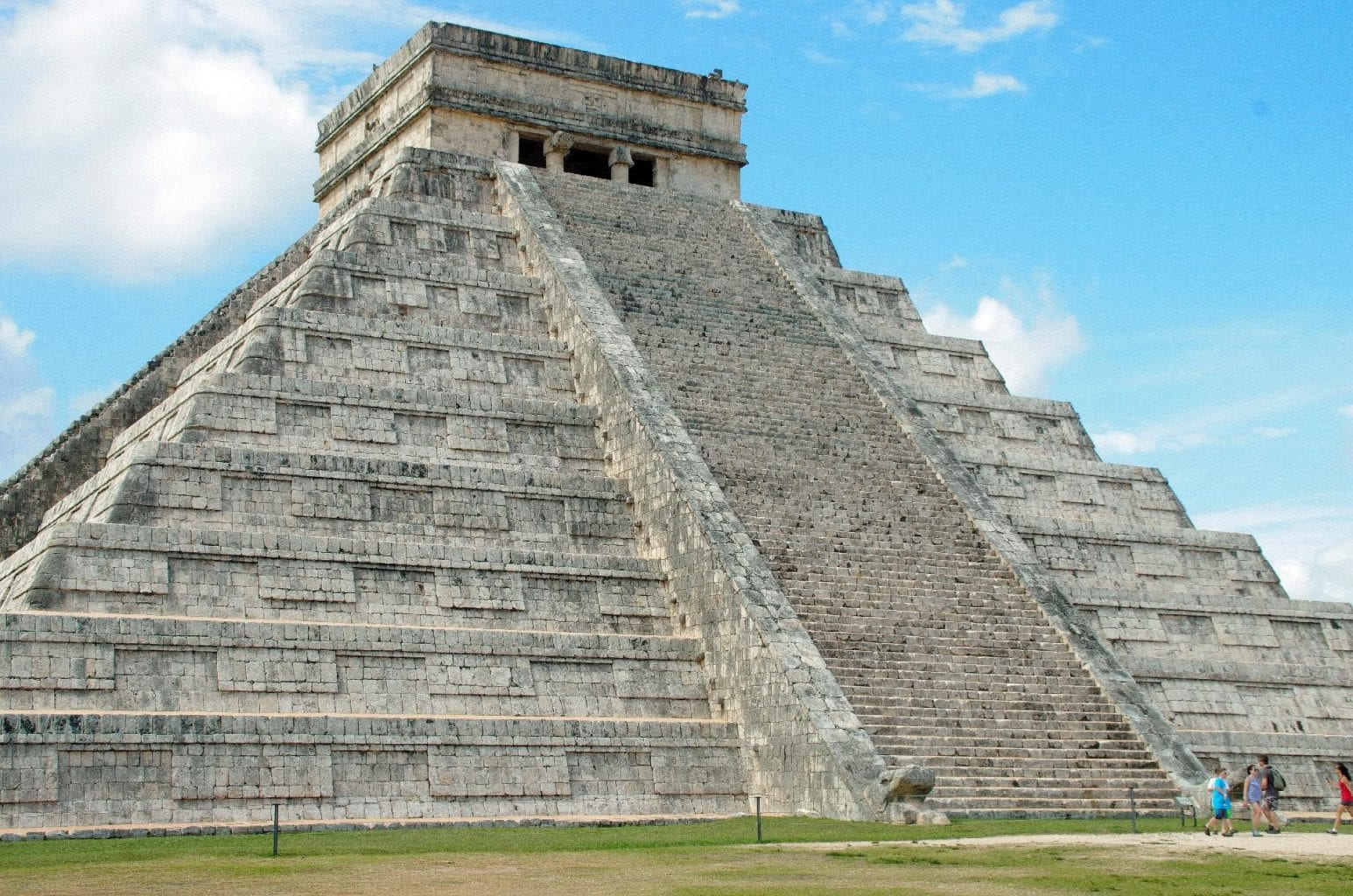 See the three windows at the top of the pyramid of Chichen Itza. Credit: Jumpstory
