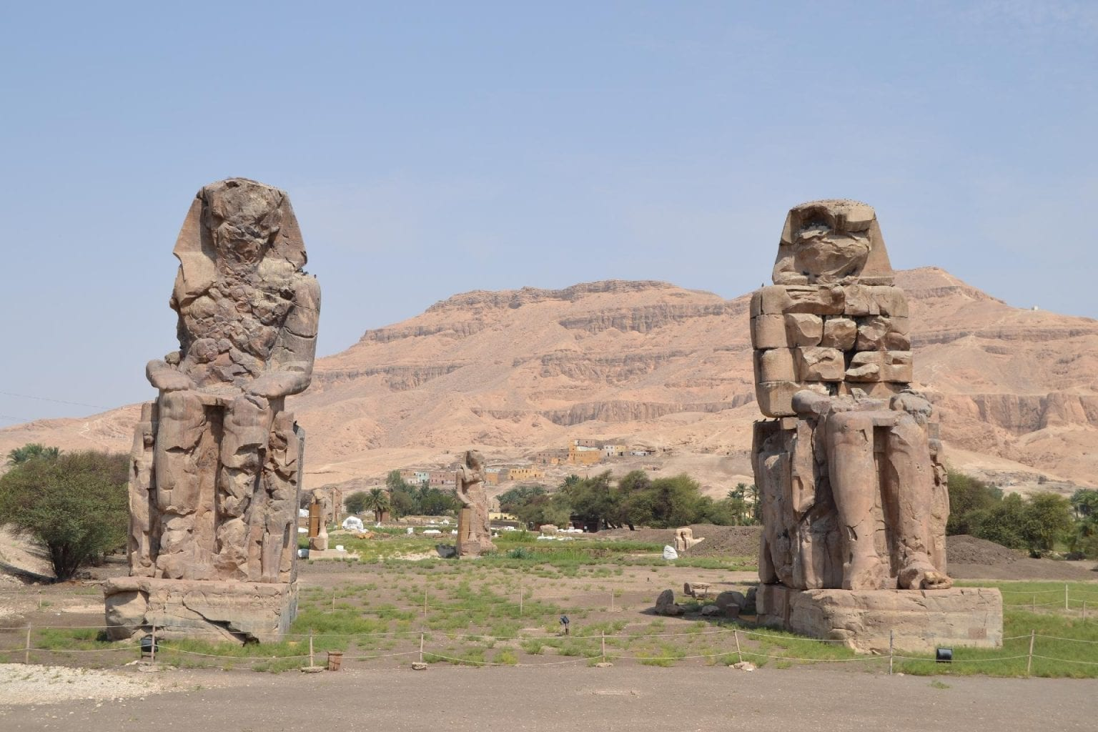 The Colossi of Memnon. Credit: Jumpstory