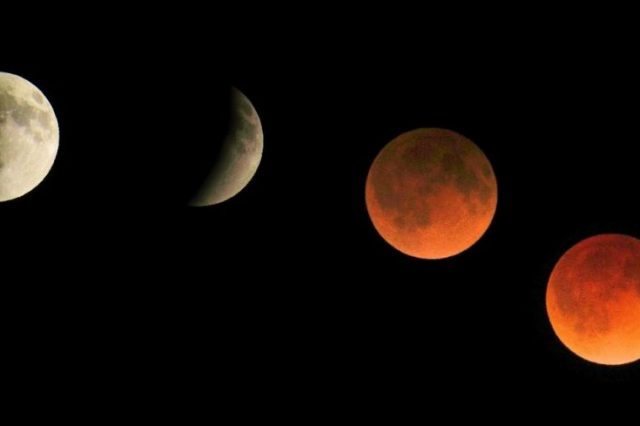 During the May 26 full moon, we will see a total lunar eclipse and a super blood moon. Credit: Jumpstory
