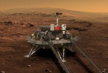 China's lander and Zhurong rover will attempt a soft landing on Mars tomorrow evening. Credit: CNSA