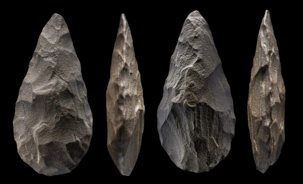 Some of the Acheulean tools dated to 350,000-250,000 years old. Credit: Ian Cartwright / Nature Scientific Report, 2021