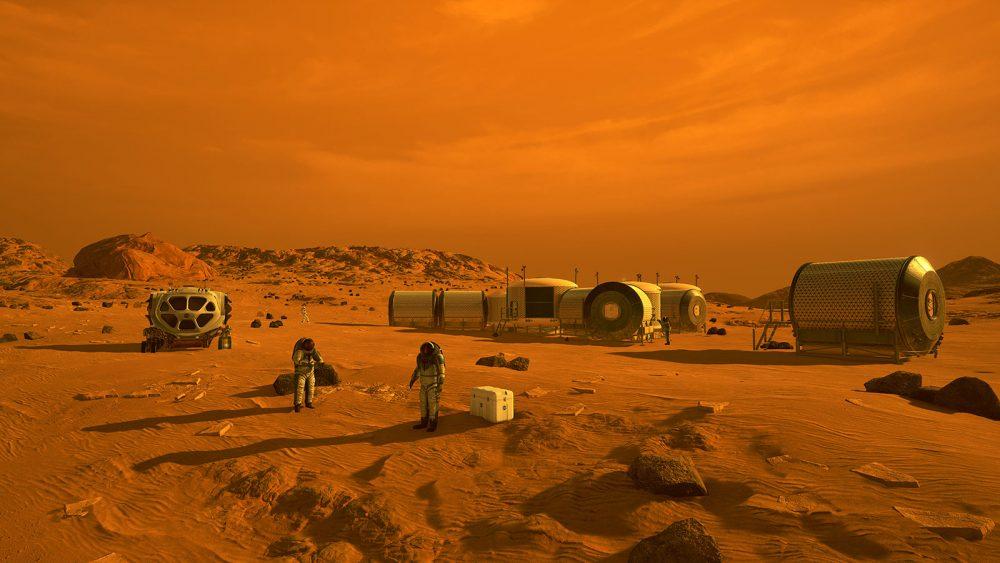 Artist's impression of a human settlement on Mars. Credit: NASA