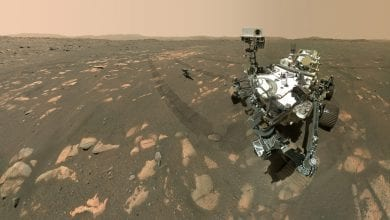 "The Perseverance rover took this ""selfie"" with the Ingenuity Mars helicopter on April 6, 2021. Now, the Ingenuity mission has been extended until the end of August. Credit: NASA/JPL-Caltech/MSSS"