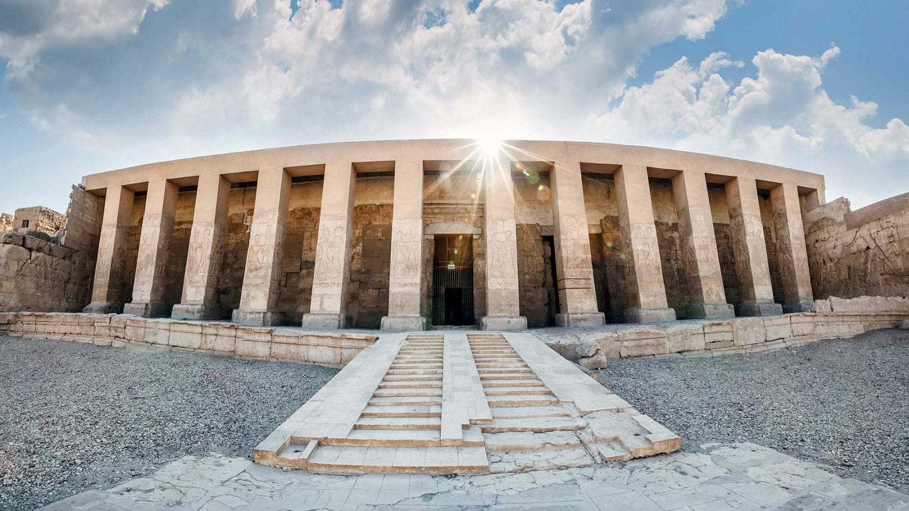 The Temple of Seti I in Abydos. Credit: HappyEgypt
