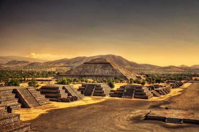 Teotihuacan with its many pyramids. Are there any similarities between step pyramids around the world? Credit: Shutterstock