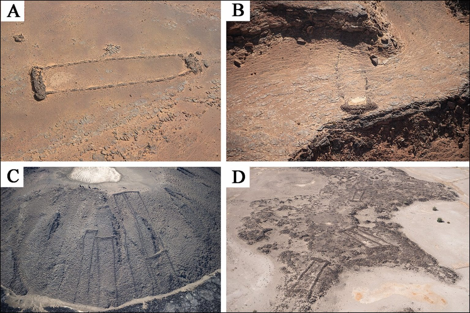 The Arabian cult did not build mustatils according to specific geographical positionings. All are different and are solely oriented according to local topography. Credit: AAKSAU and Royal Commission for AlUla
