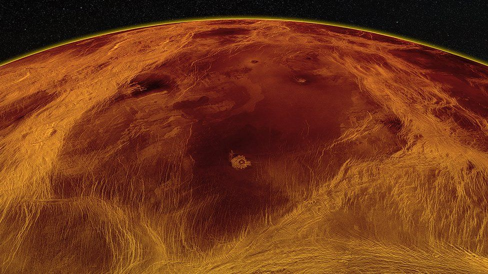 Radar view of Nuwa Campus, located in the Venus lowlands, and its tectonic structures. Credit: PAUL K. BYRNE / SEAN C. SOLOMON
