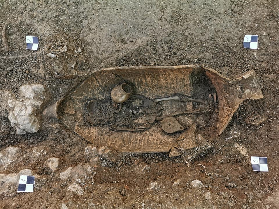 An impressive burial from the necropolis in Croatia. Credit: Kantharos / Facebook