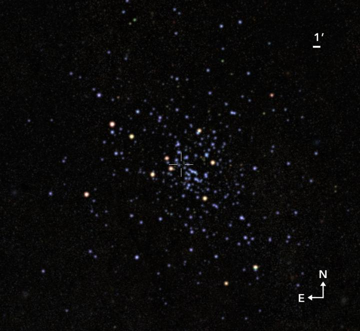 Isolated view of the cluster when astronomers removed all other celestial objects and dust that are not part of the cluster. Credit: Gabriel Pérez Díaz, SMM (IAC).
