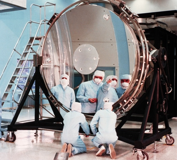 Hubble's mirror during production. Credit: NASA / ESA