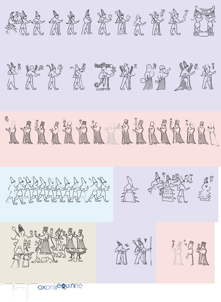 Reliefs of deities in Chamber A. According to researchers, they can be arrange in groups that match astronomical principles - 12 lunar months, 30 days of a lunar month, a climactic group and 19 annual cycles. Credit: Luwian Studies