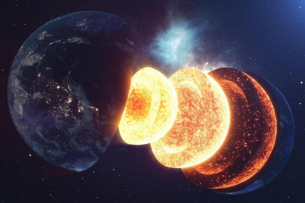 Earth's inner core has been growing unevenly. Credit: Shutterstock