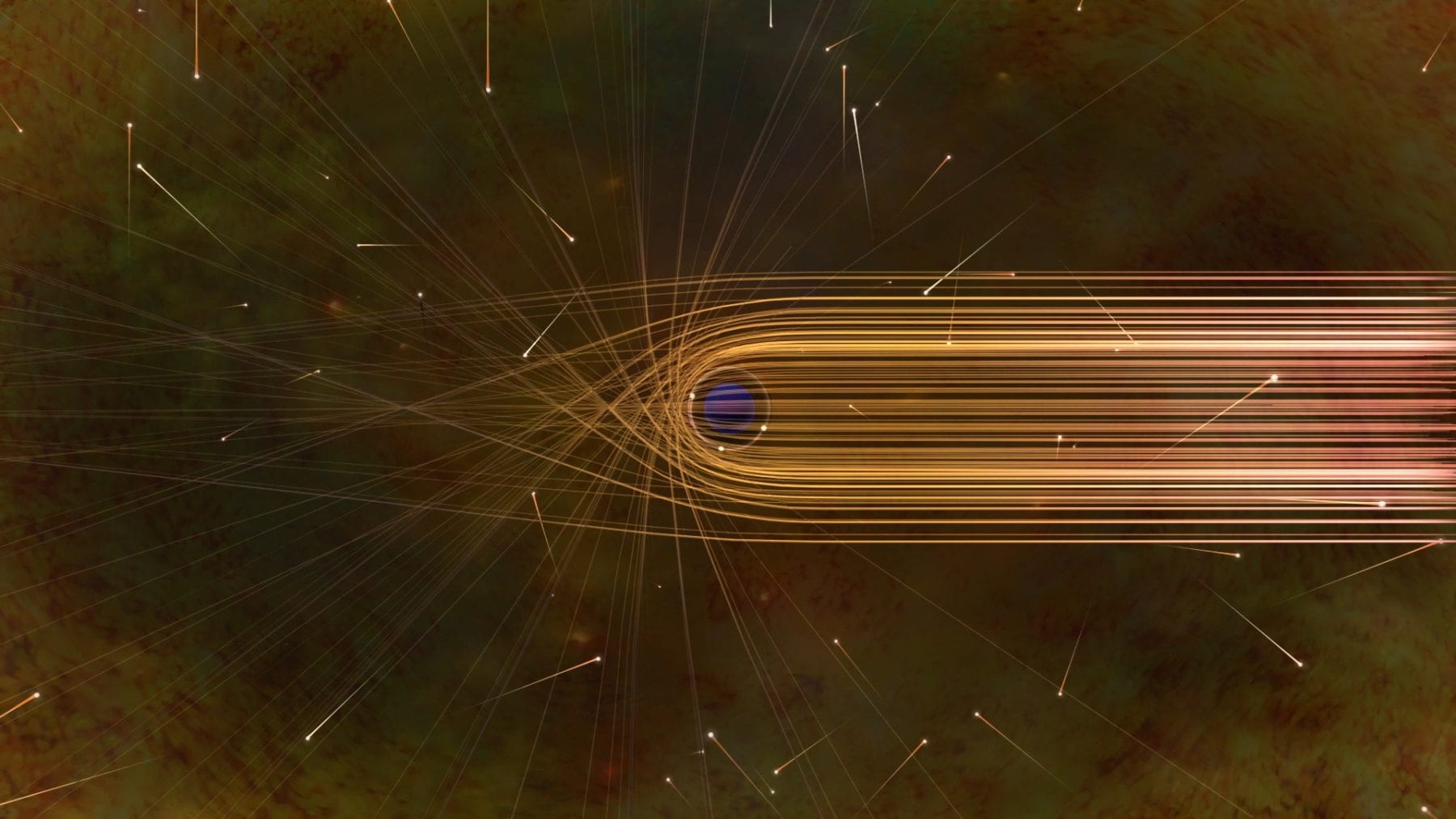 Photon paths in the vicinity of a black hole. Credit: Nicole R. Fuller / NSF