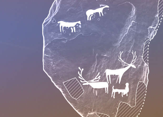 Scheme of the petroglyphs from the burial chamber of Dunchraigaig Cairn. Credit: Historic Environment Scotland / Youtube