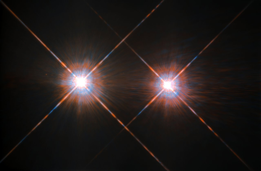The best image of Alpha Centauri A and B to date. Credit: NASA