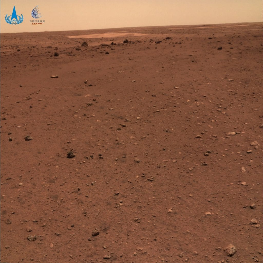 Another image from the Zhurong rover, this time showing only the Martian surface. Credit: CNSA