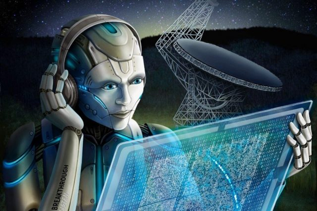 What if aliens are not even alive but something beyond, like artificial intelligence, for example? Credit: Breakthrough Listen