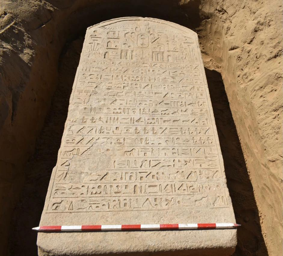 See how preserved the Egyptian stele is? It looks as it is brand new when it is 2500 years old. Credit: Ministry of Antiquities / Facebook