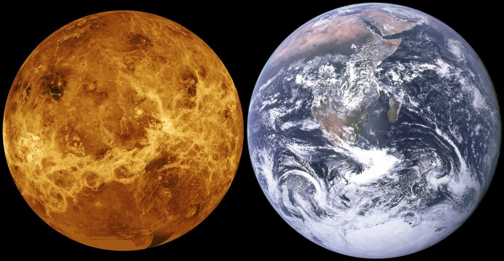 Scientists presented new study results that suggest there is not enough water in the upper atmosphere of Venus to support life. Credit: NASA
