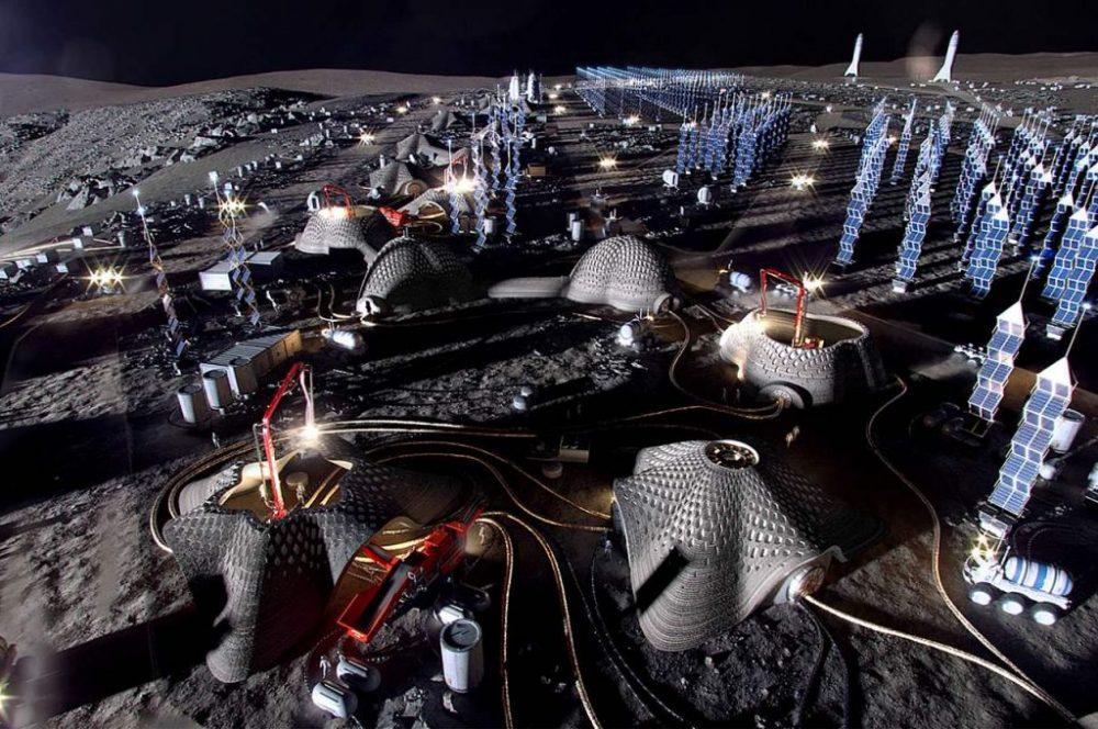 Moon Village Concept. Credit: SOM
