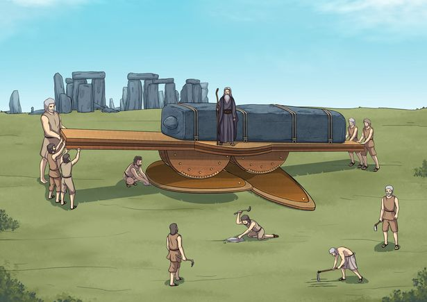Steven Tasker created this illustration of the machine he believes was used by Stonehenge builders. Credit: Steven Tasker / Oray Studios