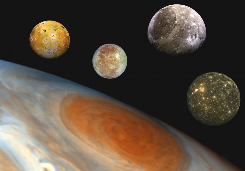 Jupiter and the Jovian System. An Amateur astronomer has discovered a new moon of Jupiter. Credit: NASA