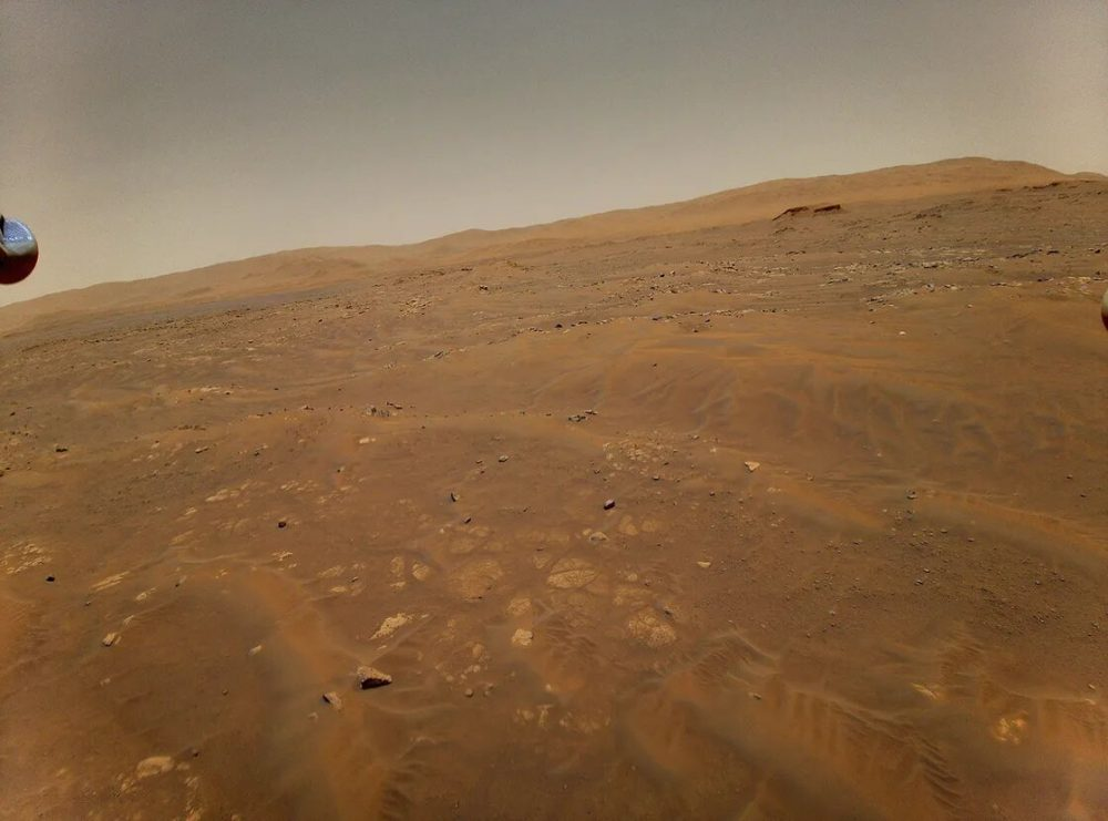An image of the Seitah geologic unit on Mars from 10 meters height. The photograph was taken during the sixth flight on May 22. Credit: NASA/JPL-Caltech