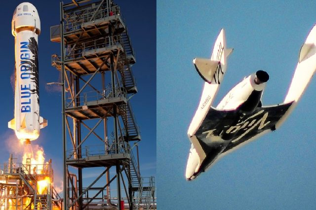 Virgin Galactic and Blue Origin sent the first two billionaires to space.