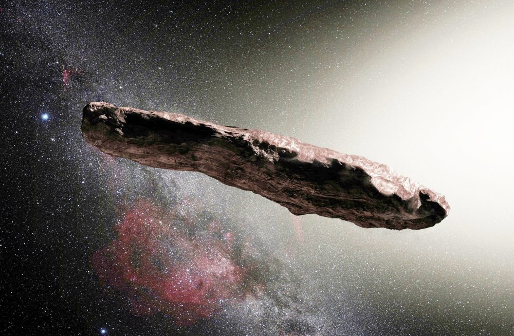 Artist's impression of Oumuamua. Credit: ESO