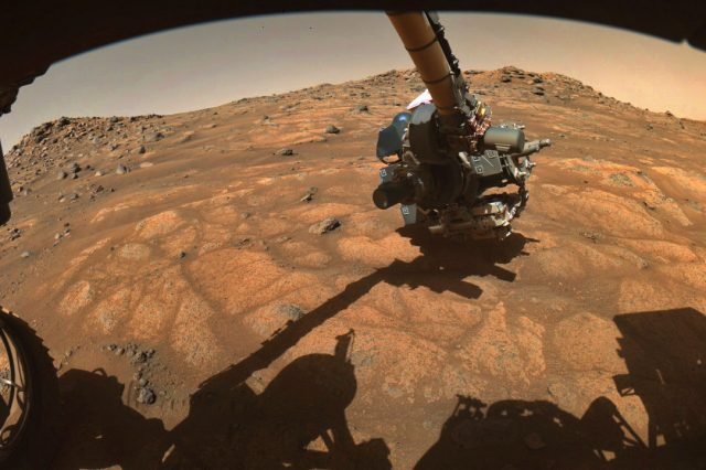 Perseverance will drill in the so-called paver stones and collect samples in search for ancient life on Mars. Credit: NASA/JPL-Caltech/MSSS